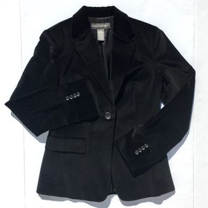 Like New Banana Republic Black Velvet Blazer sz 4